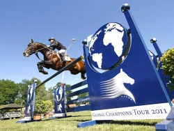 Sieg bei der Global Champions tour 2011 in Hamburg (Foto: S. Grasso GCT)